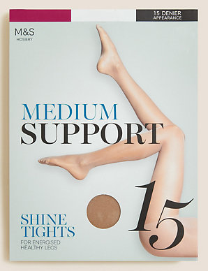 The Collection 2 Pack Black 15 Denier Light Control Support Tights