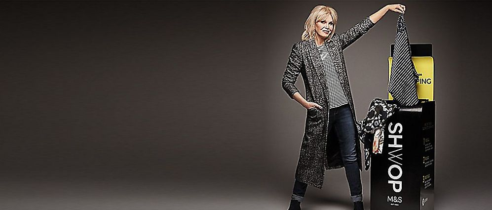 Joanna Lumley shwopping with M&S