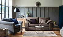 Sofa with Cushions in a living room