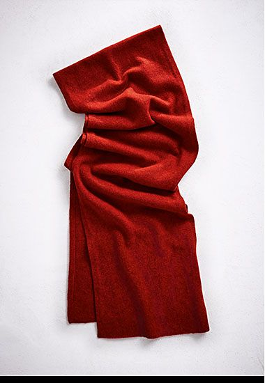 Red cashmere womens scarf