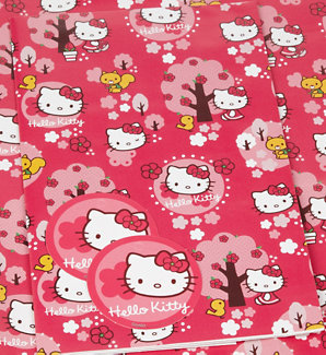 a4b6a0af4 Sanrio Hello Kitty Gift Wrapping Paper Book Covers Includes 2 Designs  Choose One Hello Kitty