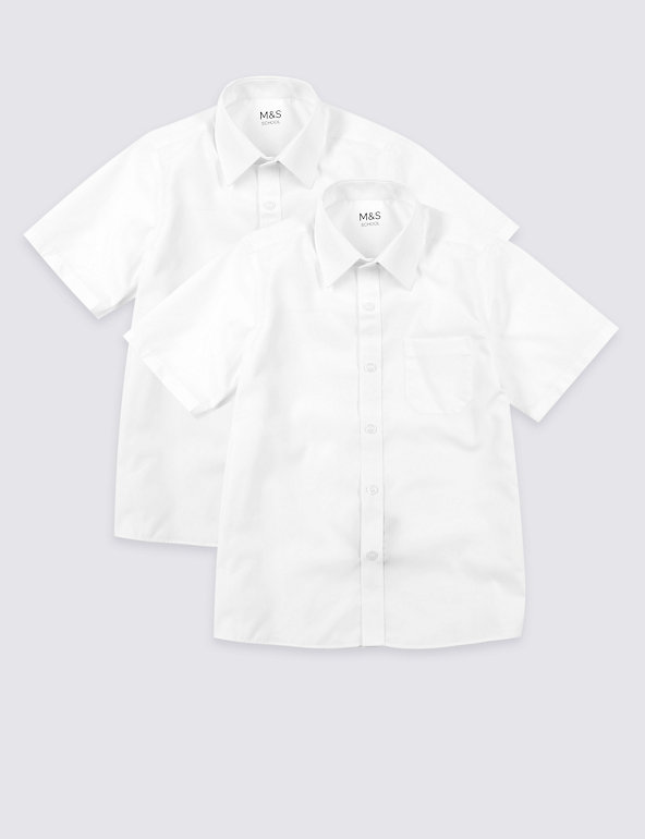 M/&S 2 Pack Boys/' Easy to Iron Shirts NEW!!
