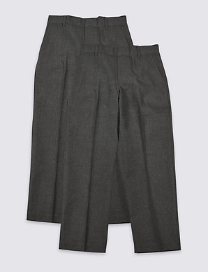 df917f6fbc 2 Pack Boys' Easy Dressing Trousers | M&S