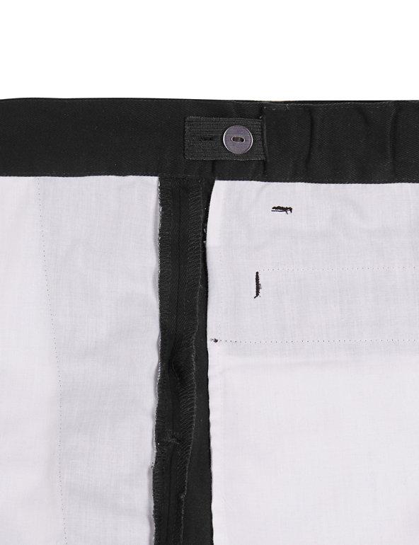 BNWT M/&S 2 x Boys Black Flat Front Regular Fit Stormwear School Trousers 4-5 yrs