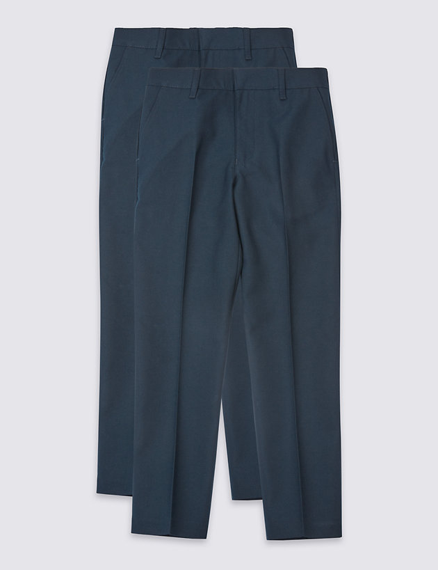 2 Pack Boys' Skinny Leg Trousers