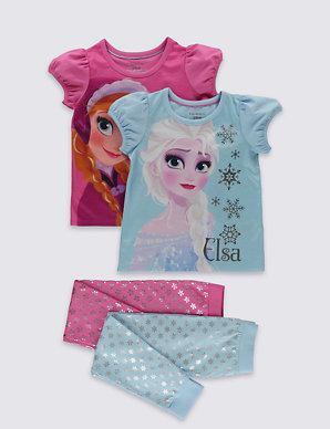 1bed245ae66 2 Pack Cotton Rich Disney Frozen Pyjamas (1-10 Years) | M&S