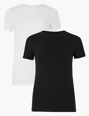 479b0b1e69f0 2 Pack Fitted Short Sleeve T-Shirts | M&S Collection | M&S