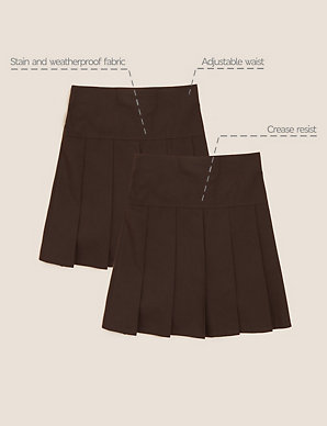 22a840fcb6 2 Pack Girls' Pleated Skirts | M&S