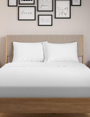 2 Pack Jersey Standard Pillowcases   M&S