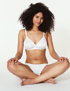 28120fab3e6b 2 Pack Non-Wired Crossover Full Cup A-E Bras | M&S Collection | M&S