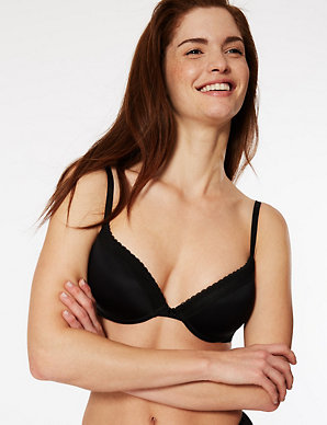 4f72f36dbdc 2 Pack Padded Plunge T-Shirt Bras AA-D | M&S Collection | M&S