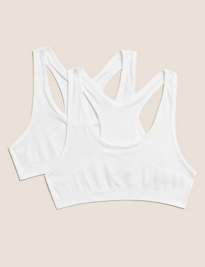 0d2d30e5a2f3a 2 Pack Seamfree Cropped Tops (9-16 Years) | M&S