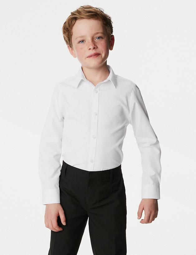 White Slim Fit School Polo Shirt 2 Pack