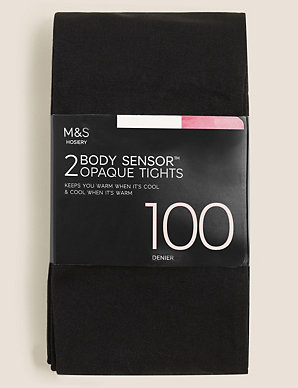 4ffd2d5604c 2 Pair Pack 100 Denier Body Sensor™ Tights