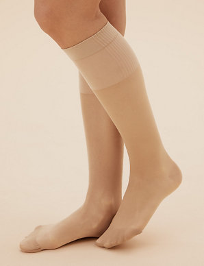 d47e0de68f0 2 Pair Pack Firm Support Shine Knee Highs