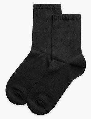803d732c1 2 Pair Pack Merino Wool Ankle High Socks