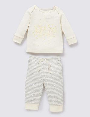 73795adc6528 2 Piece Organic Cotton Pyjama Set | M&S