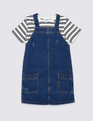 41ec0921b796e 2 Piece Pinafore & T-Shirt Outfit (3-16 Years) | M&S