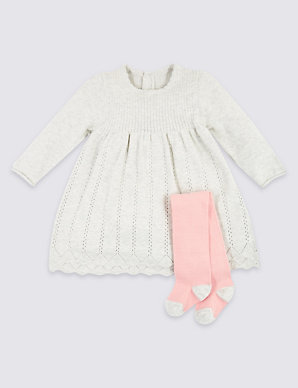 rrp £16.00 Outfits & Sets Knitted 2 Piece Set For Babies
