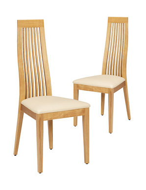 b92a1f1ec7e82 2 Wexford Slat-Back Dining Chairs | M&S
