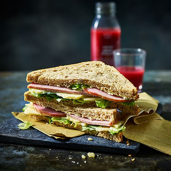 Our Best Ever ham and cheese sandwich