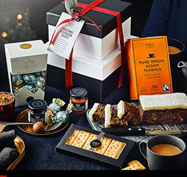 Christmas afternoon tea treats hamper