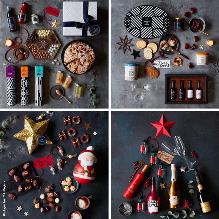 Christmas gifts for foodies, including biscuits and panettone