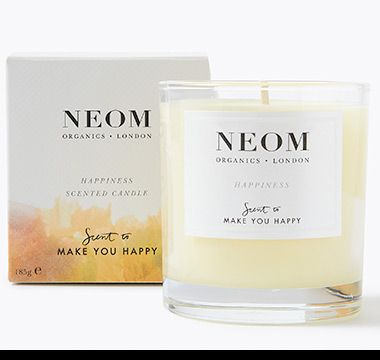 Neom Scent to Make You Happy candle and box