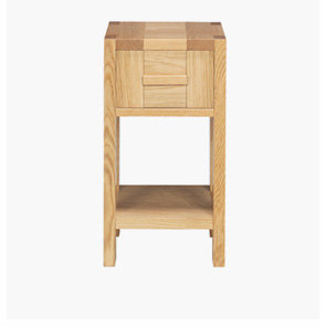 An oak bedside table