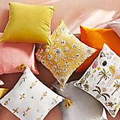 Brightly coloured and patterned cushions