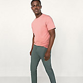 Man wearing new slimmer-fit chinos