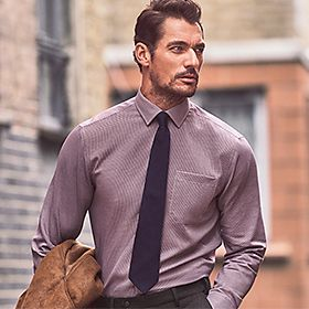 David Gandy wearing a smart formal shirt