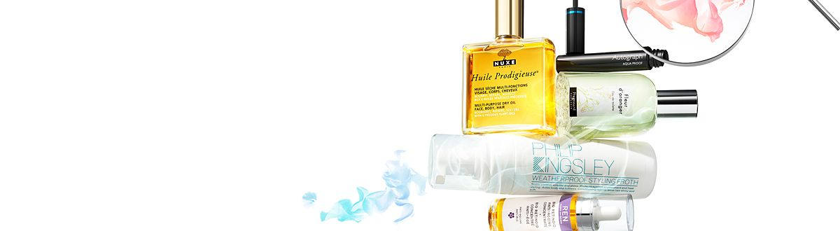 Image of Ren, Philip Kingsley, Nuxe, Fragonard and Autograph beauty products