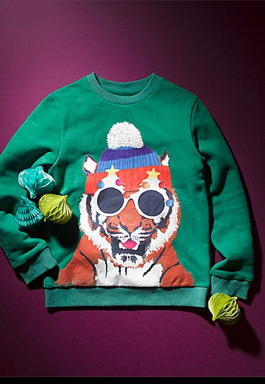 Tiger Christmas jumper