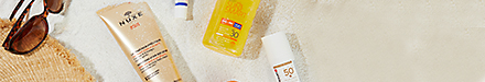 A selection of suncare products