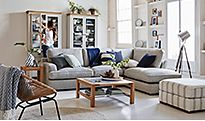 Living room with Frankie corner sofa