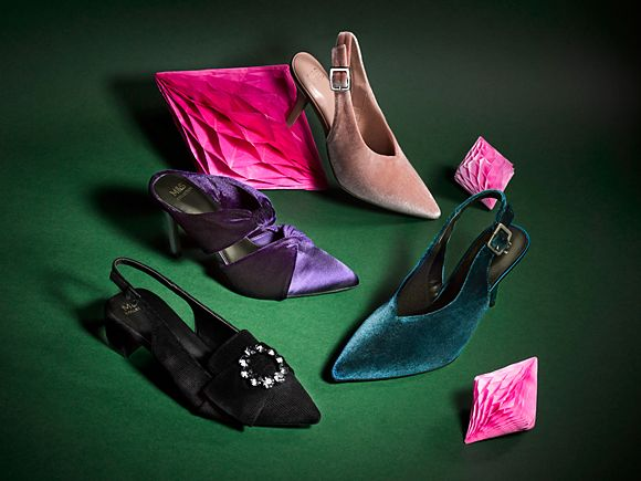 A selection of party shoes