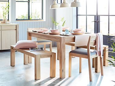 Paxton Dining Table Chairs And Bench