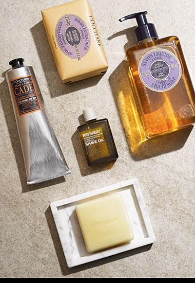 Various shaving toiletries