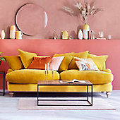 Isabelle ochre sofa in living room