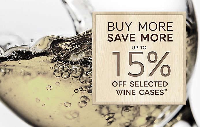 Buy more save more on wine banner