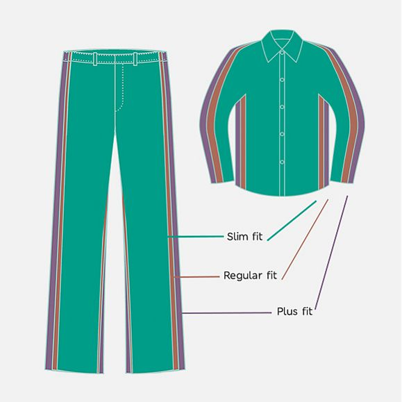 Illustration showing the different shirt styles available in the M&S school uniform range
