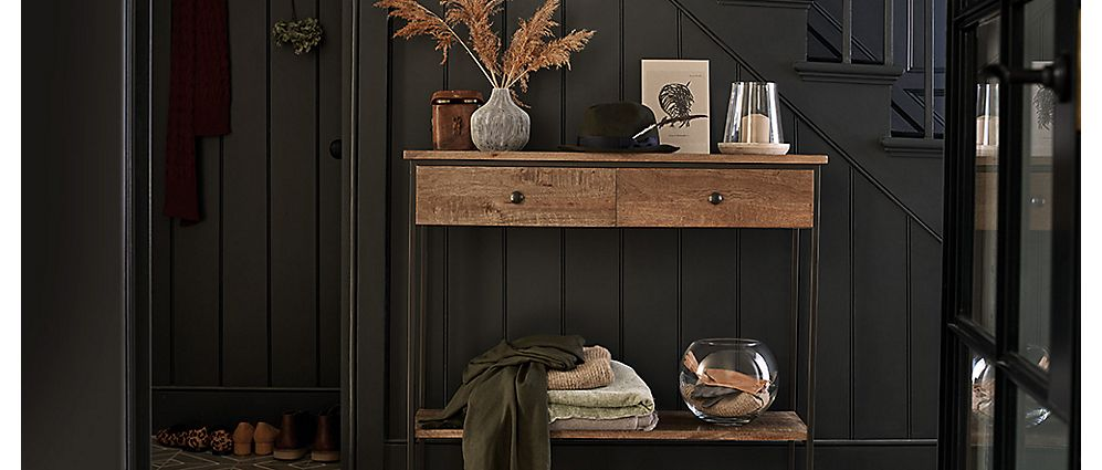 Sanford console table in hall