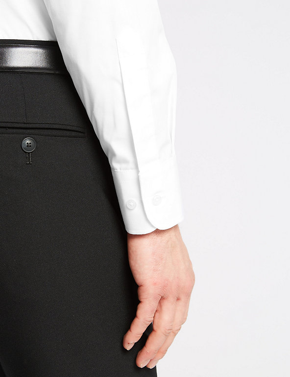 """Details about  /Fa M Ou S Store 2/"""" Longer Easy To Iron Long Sleeve Regular Fit Shirt"""