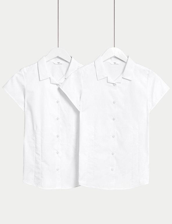 2pk Girls' Easy Iron School Blouses | M&S