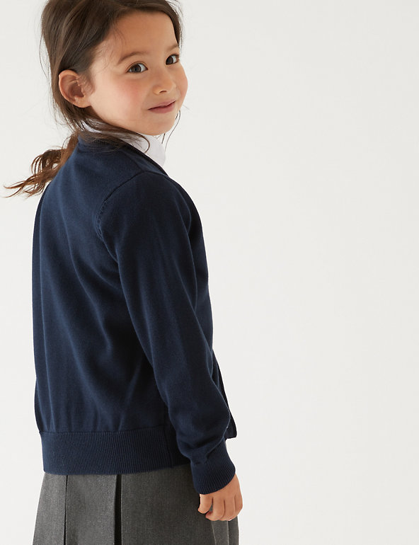 2pk Girls' Pure Cotton School Cardigan | M&S