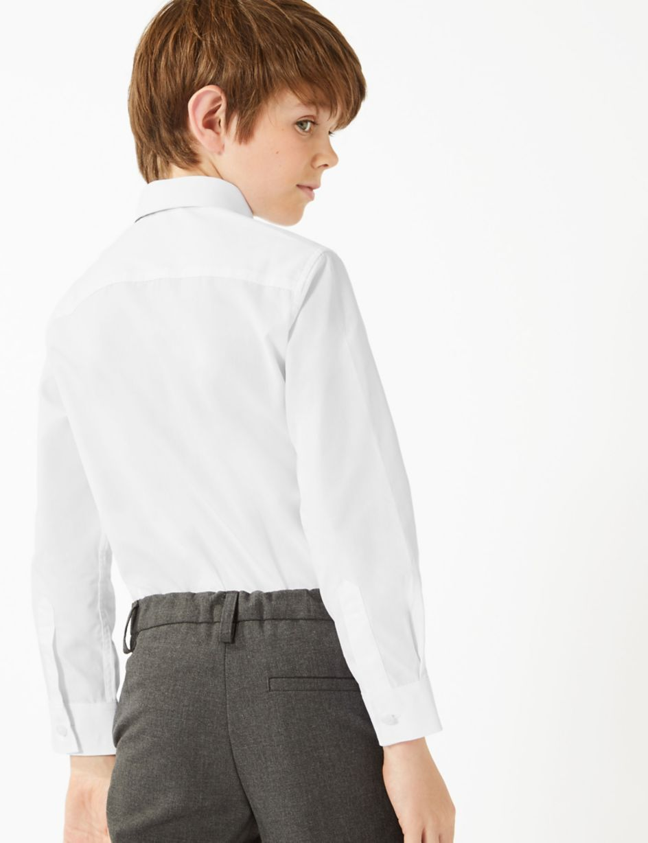 lower price with uk availability utterly stylish 3 Pack Boys' Regular Fit Easy to Iron Shirts | M&S