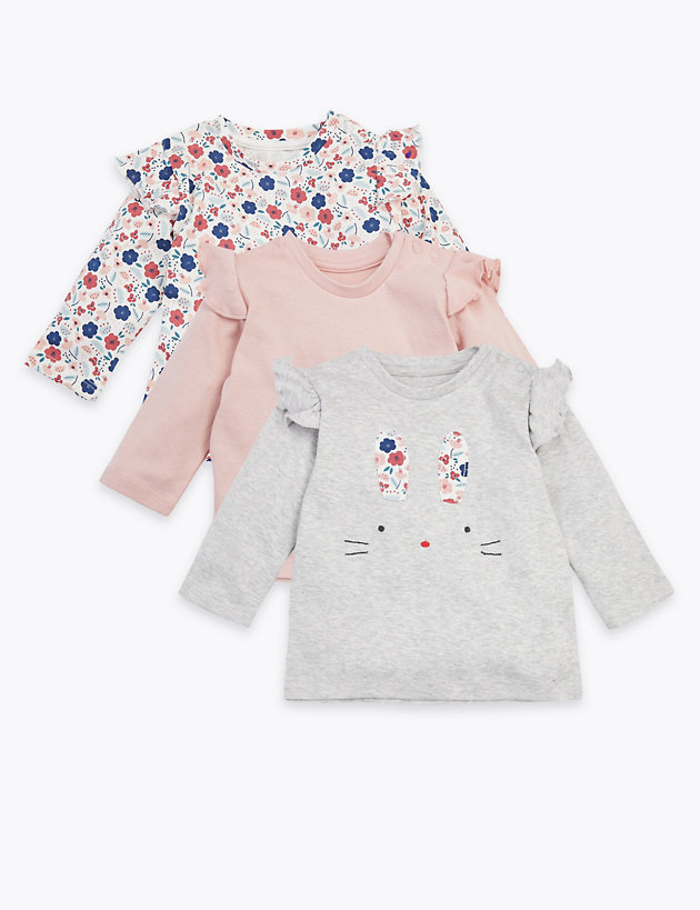 3 Pack Cotton Bunny Tops