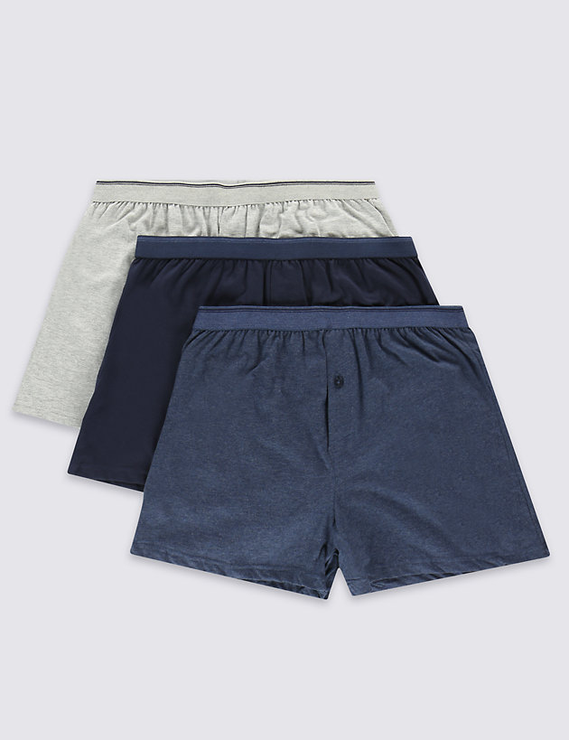 3 Pack Cotton Cool & Fresh™ Jersey Boxers
