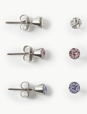 47e8d63f59c 3 Pack Earrings with Swarovski® Crystals